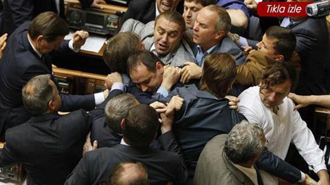 Ukrayna meclisi yine karıştı
