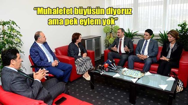 AK Parti-CHP bayramlaşmasında ilginç diyaloglar