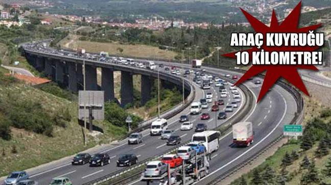 Bayram dönüşü trafik çilesi!