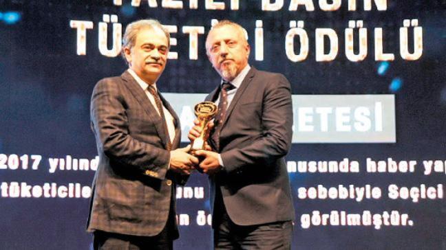 Akşam Gazetesi'ne İstanbul Tüketici Ödülü