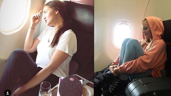 Uçakta aynı business poz