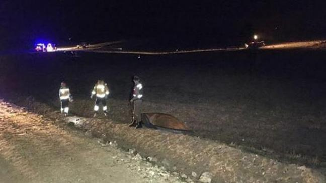 Nevşehir'de askeri uçak düştü: 1 askerimiz şehit oldu