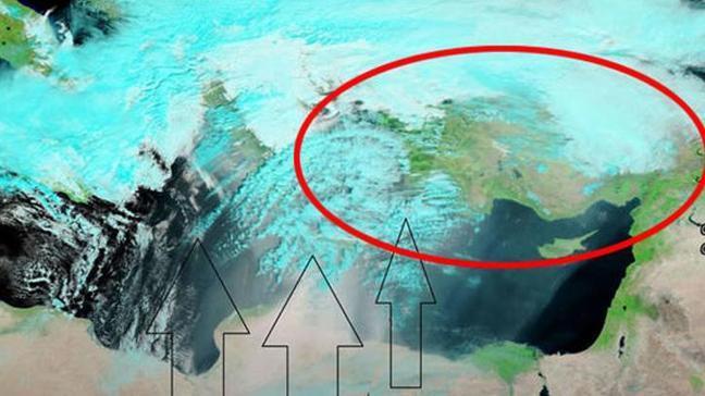 Meteoroloji uyarmıştı... NASA uydusu Türkiye'yi böyle gördü!