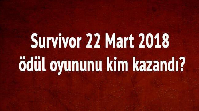 """Survivor 22 Mart 2018 ödül oyununu kim kazandı"""""""