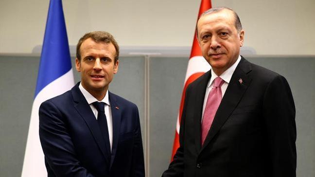 Cumhurbaşkanı Erdoğan Macron ile telefonda görüştü