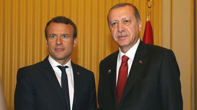 Cumhurbaşkanı Erdoğan'dan Macron'a: Doğu Akdeniz'de Türkiye'nin ve KKTC'nin hakları korunmalı