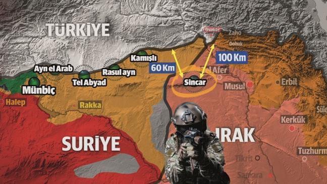 Terör örgütü PKK/PYD'den Sincar oyunu: Üzerindeki baskıyı azaltmak için çekildiğini açıkladı