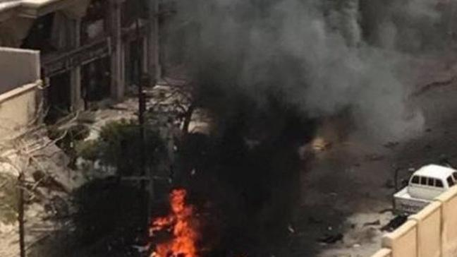 Mısır'ın İskenderiye şehrindeki bir otelin yakınlarında patlama