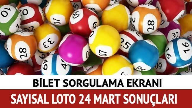24 Mart Sayısal Loto sonuçları açıklandı