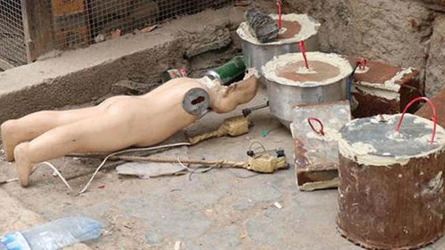 Afrin'de cansız çocuk mankene el yapımı patlayıcı düzeneği kurmuşlar