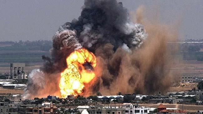 İsrail'in, Hamas'ın askeri kanadı Kassam Tugaylarına ait askeri bir mevziyi bombaladığı bildirildi
