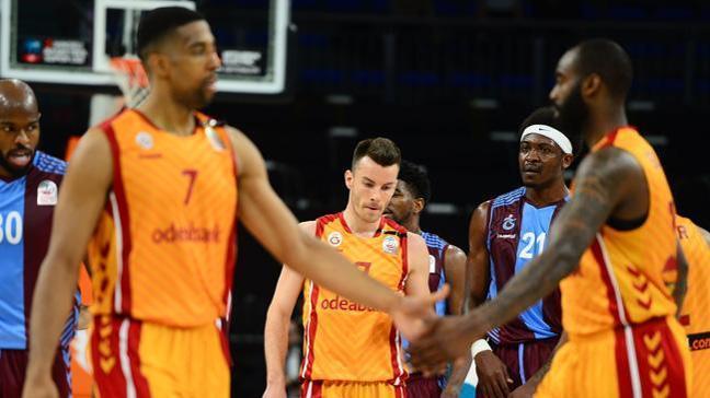 Galatasaray Odeabank sahasında Trabzonspor'u 84-78 mağlup etti