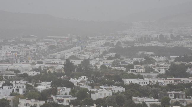 Bodrum, Kuzey Afrika tozlarının etkisi altında