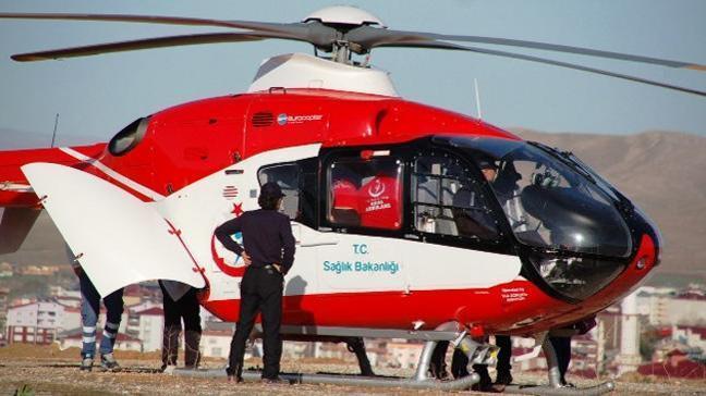 3 günlük bebek helikopter hava ambulansı ile Kayseri'ye sevk edildi