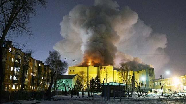 Rusya'da 'AVM yangını' protestosu