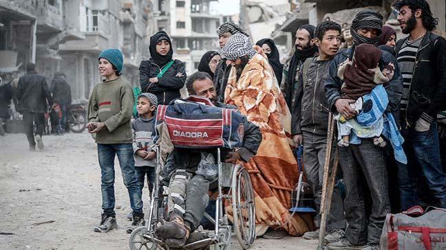 18 bin kişi, Esed rejimi altında ezilen Doğu Guta'dan ayrılmak zorunda kaldı