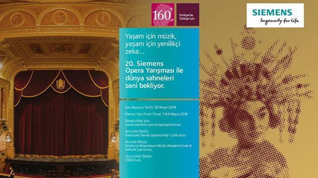 20 yıldır sanata değer katan 'Siemens Opera Yarışması' için son başvuru tarihi 30 Nisan!