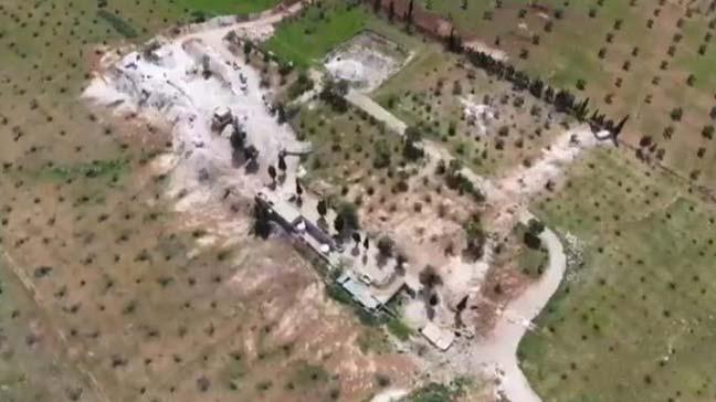 Terör örgütü YPG/PKK'nın Afrin'den yayılarak işgal ettiği Tel Rıfat ilçesi havadan görüntülendi