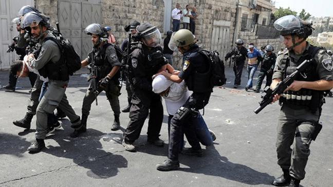 İsrail polisi 34 Filistinliyi gözaltına aldı