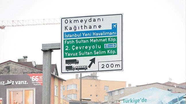 Yeni havalimanıİstanbul tabelalarında