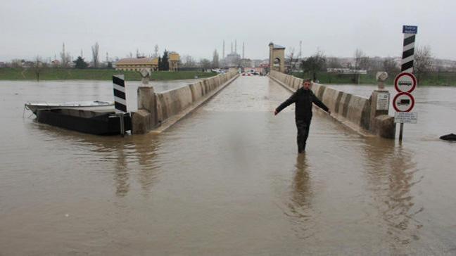 Tunca ve Meriç nehir debilerinde düşüş başladı