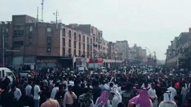 Ahvaz'da Arapların dışlanmasına karşı protesto