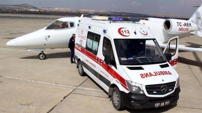 Hava ambulansı, kalp hastası bebek için havalandı
