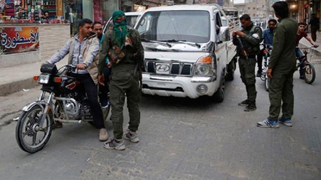 Münbiç'te PKK'lı teröristler böyle görüntülendi