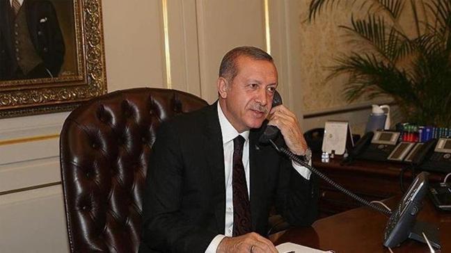 Cumhurbaşkanı Erdoğan mevkidaşlarıyla telefonda görüştü