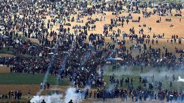 Gazze'de İsrail askerleri tarafından şehit edilen Filistinlilerin sayısının 7'e yükseldiği bildirildi