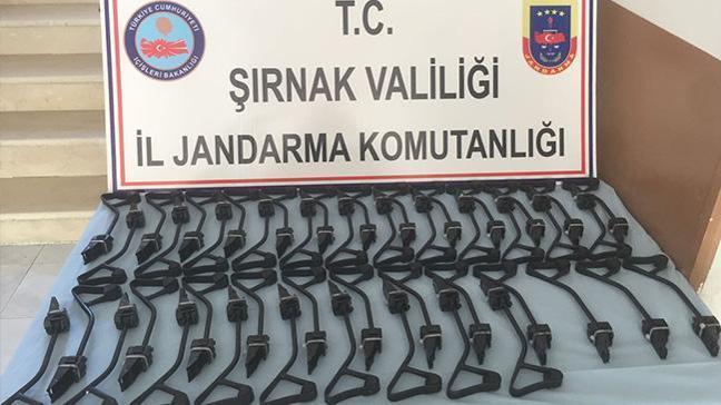 Şırnak'ta 46 uzun namlulu silah ele geçirildi