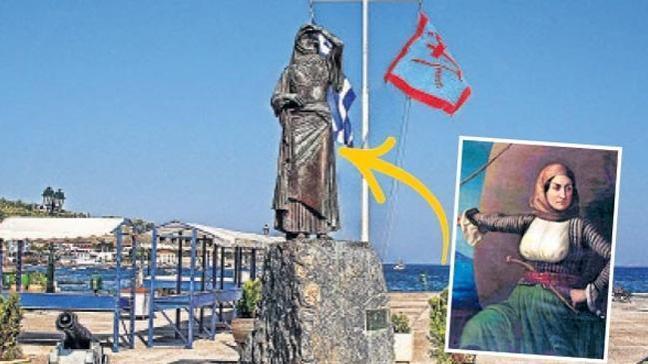 Yunanistan Osmanlı'ya isyan eden kadını Amiral yaptı