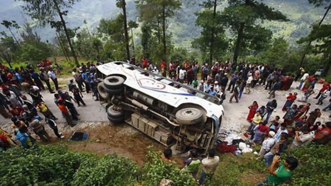 Nepal'de 11 aylık trafik kazası bilançosu: 2318 ölü