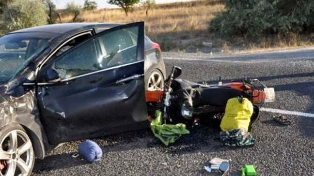 Aydın'da otomobil, motosiklete çarptı: 2 çocuk ağır yaralandı