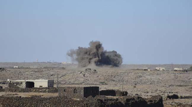 Esed rejimi ve destekçileri, Dera'ya dün binden fazla kara ve hava saldırısı düzenledi