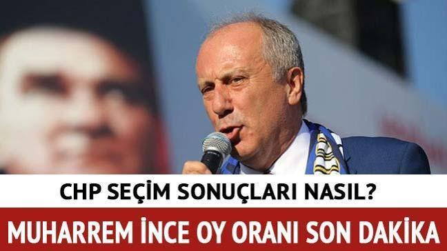 """YSK CHP seçim sonuçları 2018 Muharrem İnce seçim sonuçları oy oranı ne kadar oldu"""""""