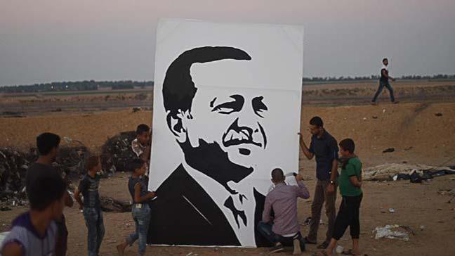 Filistinli ressam Beha el-Haribi, Erdoğan sevincini portreye yansıttı