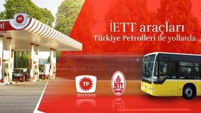 İETT araçları Türkiye Petrolleri ile yollarda