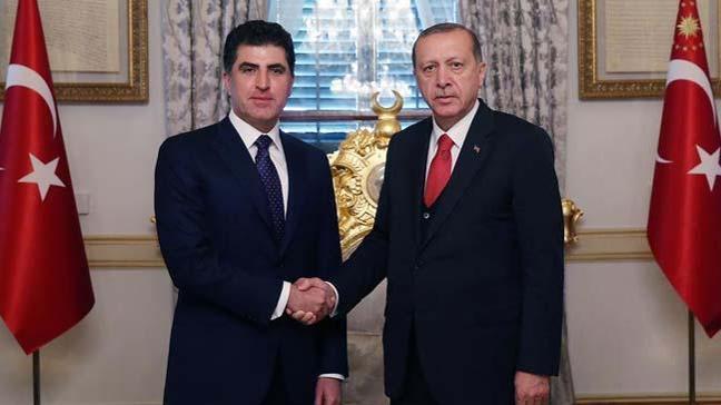 Neçirvan Barzani'den Cumhurbaşkanı Erdoğan'a tebrik mesajları
