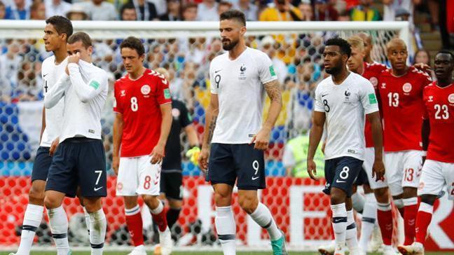 0-0 biten Fransa-Danimarka maçı sonrası iki takım da üst tura adını yazdırdı