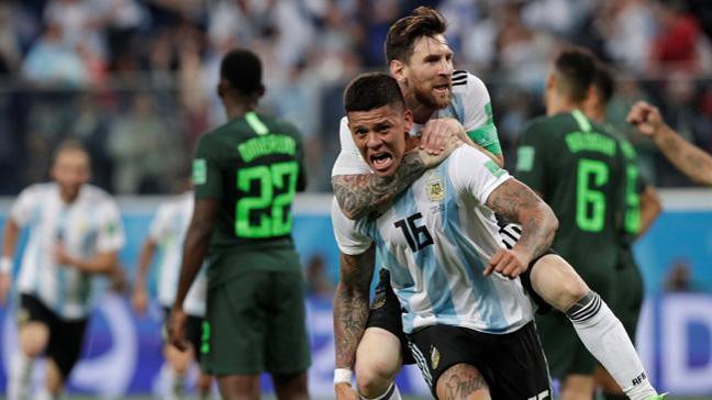 Arjantin 86'da attığı golle Nijerya'yı 2-1 mağlup etti ve turladı