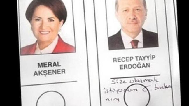 Oy pusulasında Cumhurbaşkanına mesaj yazan kadın konuştu