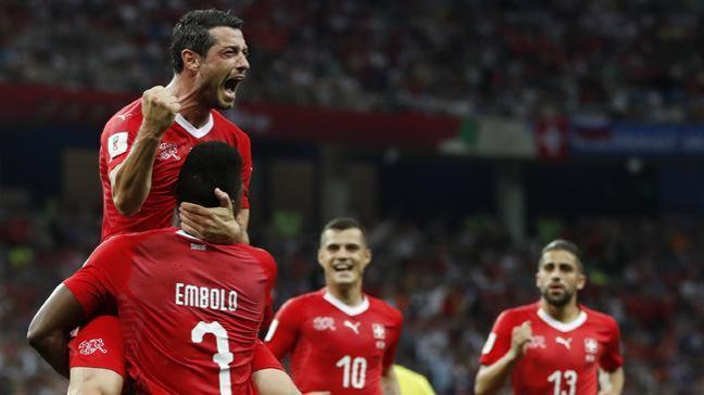 Kosta Rika ile 2-2 berabere kalan İsviçre bir üst tura yükseldi