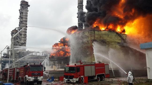 İran'da petrokimya tesisinde yangın: 1 ölü 18 yaralı