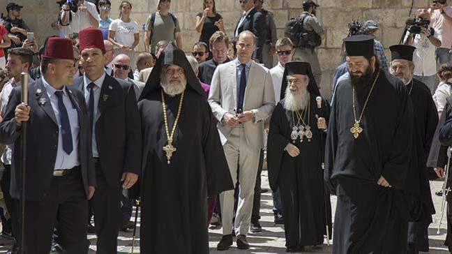 Prens William Kudüs'teki kutsal mekanları ziyaret etti
