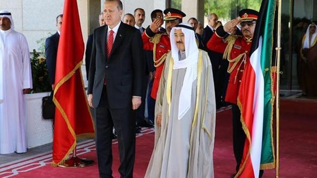 Erdoğan, Kuveyt Emiri Şeyh Sabah el-Ahmed el-Cabir es-Sabah ile telefonla görüştü
