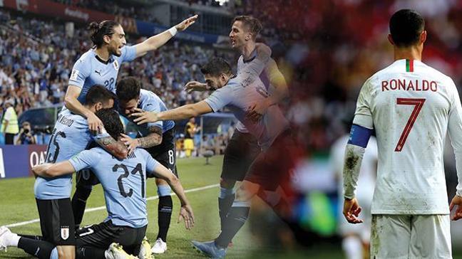 Ronaldo da veda etti! Uruguay çeyrek finalde