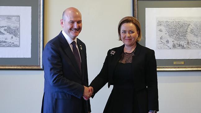 İçişleri Bakanı Soylu, Romanya İçişleri Bakanı Dan ile bir araya geldi