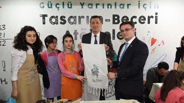 Milli Eğitim Bakanı Ziya Selçuk ilk tasarım ve beceri atölyelerini açtı