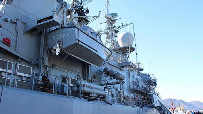 Trabzon'da kurulan deniz üssünün ilk askeri gemisi demirledi
